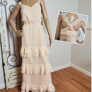 Lauren Conrad ruffled long dress size 24